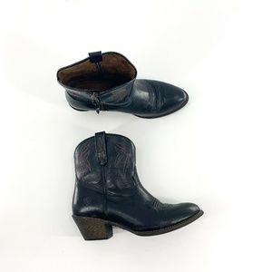 Ariat Black Side Zip Darlin Western Boots